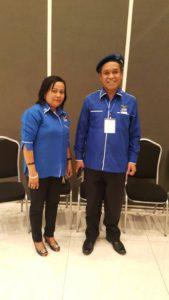 Maudy Jeanneta Dengah bersama Wakil Ketua Komisi III Dewan Perwakilan Rakyat (DPR) Republik Indonesia (RI) Beny Kabur Harman.
